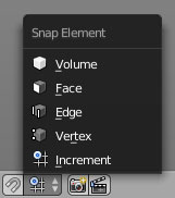 The Snap Target Mode button.