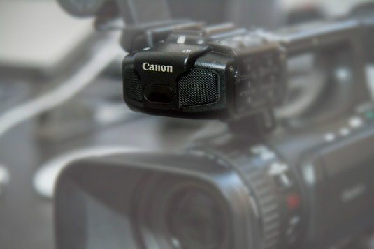 An onboard microphone.