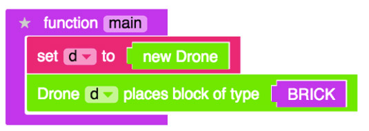 The code you use tells your drone what to do.
