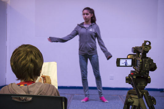 Find good actors for your film through auditions.