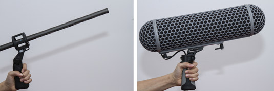Microphones without windshields.