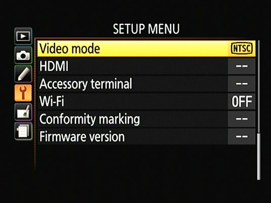 Set the video mode to the standard — NTSC or PAL — that's used in your country.