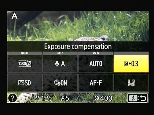 You can apply Exposure Compensation for movie shooting when you use certain exposure modes.