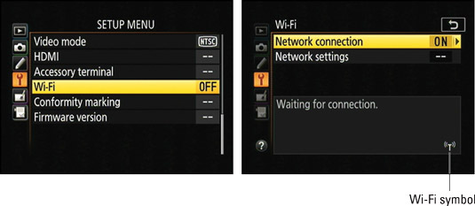 How to Use Wi-Fi Transfer on Your Nikon D5500 - dummies