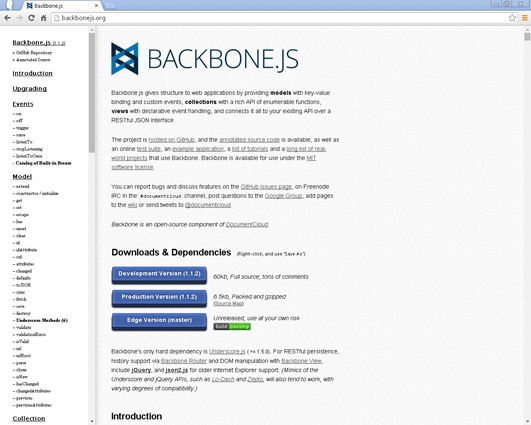 Backbone.js is an open source MVC JavaScript library designed for building single-page web apps.