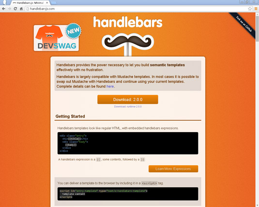 Handlebars is a client-side JavaScript templating engine.