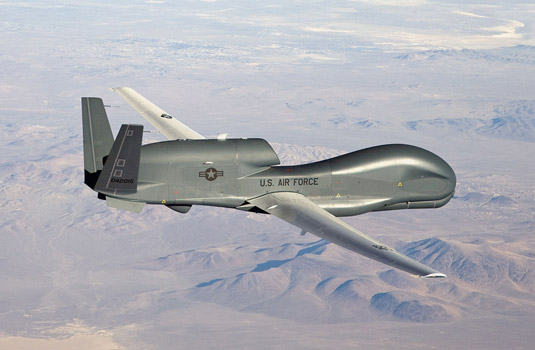 The Northrup Gruman Global Hawk. [Credit: Source: U.S. Air Force photo by Bobbi Zapka]