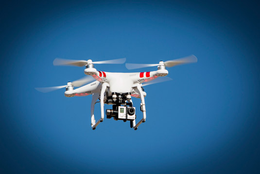 Drone with a GoPro action camera. [Credit: Source: bjoern.gramm/Creative Commons]