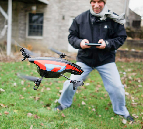 Parrot AR Drone 2.0 with camera. [Credit: Source: Christopher Michel/Creative Commons]