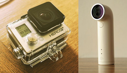 Two types of action cameras. [Credit: Source: TechStage/Creative Commons]