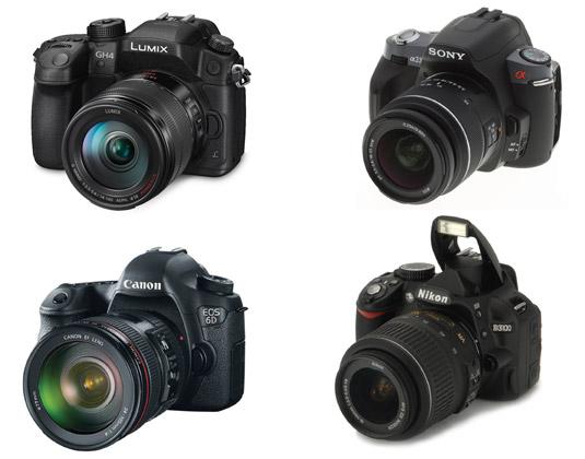 DSLR cameras and lenses. [Credit: Courtesy of Tucker Krajewski]