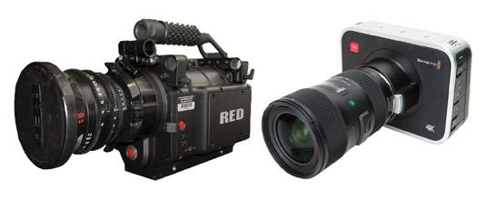 Popular cinema-quality cameras. [Credit: Courtesy of Tucker Krajewski]