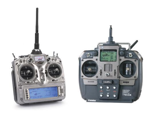 Several RC transmitters. [Credit: Courtesy of Tucker Krajewski]
