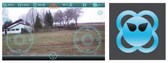 A sample drone control applications. [Credit: Courtesy of Tucker Krajewski]