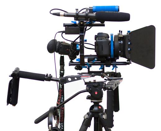 DSLR video rig. [Credit: Source: Sebastiaan ter Burg/Creative Commons]