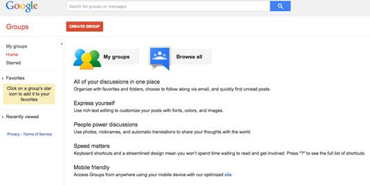 Google Groups. [Credit: Courtesy of Tucker Krajewski]