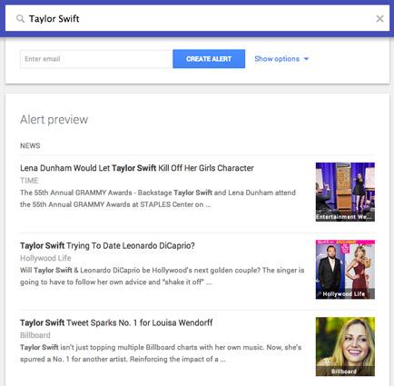 Google Alert results preview. [Credit: Courtesy of Tucker Krajewski]