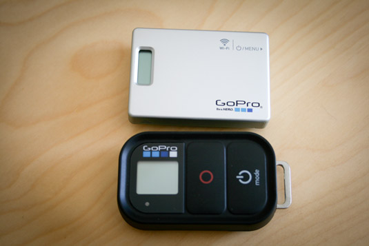 Control and configure your GoPro remotely with the GoPro Remote. [Credit: Source: William Hook/Crea