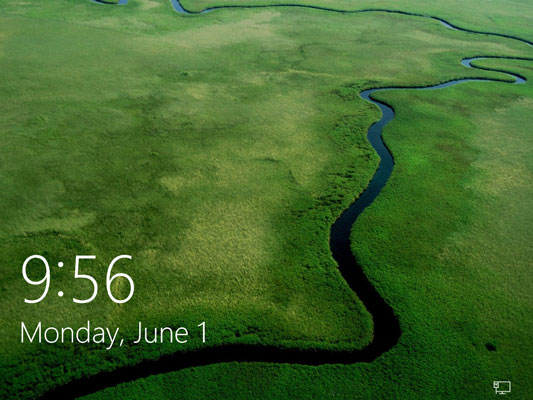To move past this lock screen, press a key on the keyboard or drag up on the screen with your mouse