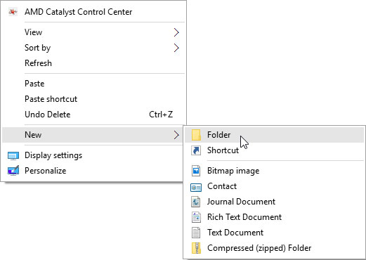 How to Create a New Folder in Windows 10 - dummies