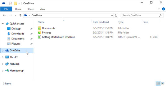 OneDrive's folders stay synchronized with a second copy on the Internet.