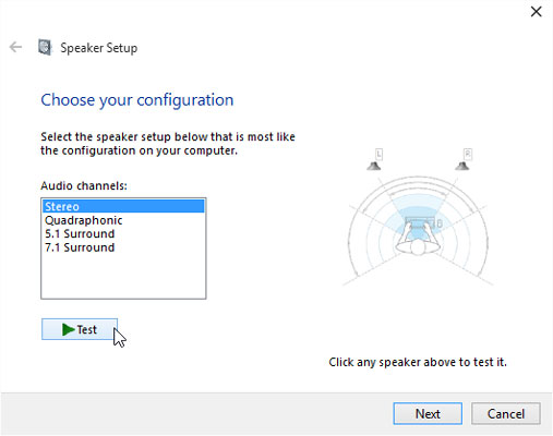 how to get internal speakers to work on windows 10