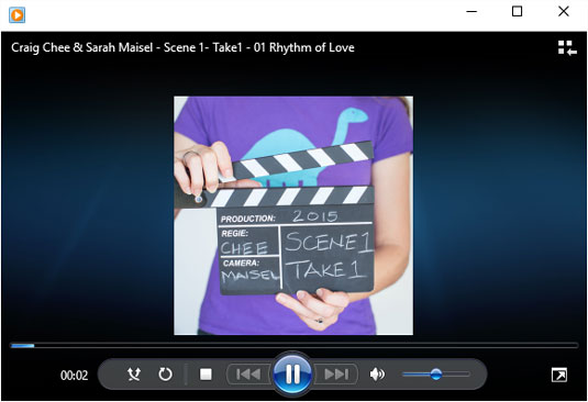 The controls across the bottom of the Windows Media Player enable you to fine-tune your listening e