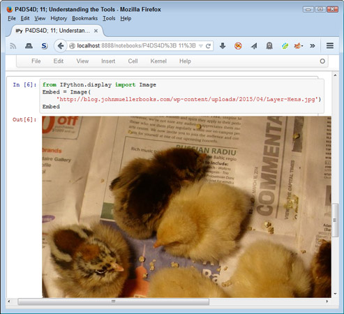 Embedding images can dress up your notebook presentation.