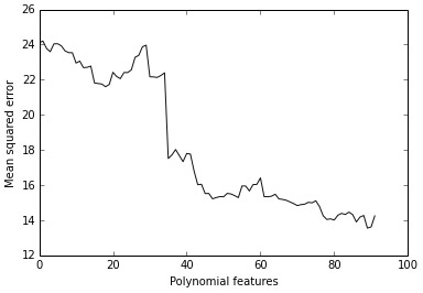 Adding polynomial features increases the predictive power.