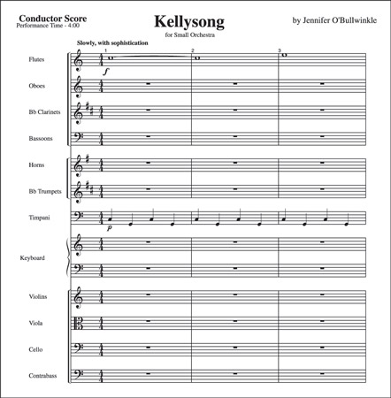 A sheet of score paper, showing which instruments play what. [Credit: <i/></noscript>Source: Creative Commons <div class=