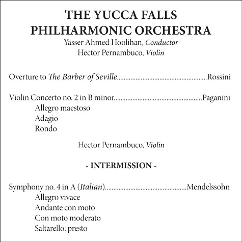 A sample concert page from the Yucca Falls Philharmonic Orchestra. [Credit: <i></noscript>Source: Creative Com&#8221; width=&#8221;475&#8243;/></p> <div class=