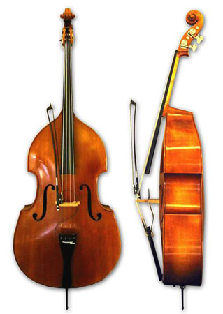 "The double bass, granddaddy of the string section, plays the lowest notes. [Credit: <i/></noscript>Source: Crea"" width=""319″/> <div class="
