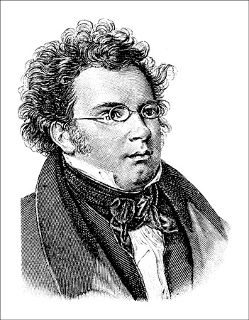 "Franz Schubert (1797–1828), one of the most prolific songwriters in history. [Credit: <i/></noscript>Sour"" width=""351″/> <div class="