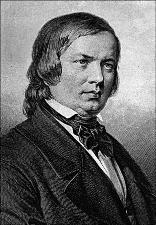 Robert Schumann, one of the foremost German Romantic composers. [Credit: <i></noscript>Source: Creative Common&#8221; width=&#8221;311&#8243;/></p> <div class=