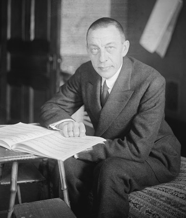 Sergei Rachmaninoff, the Russian piano master. [Credit: <i></noscript>Source: Creative Commons</i>]&#8221; width=&#8221;384&#8243;/></p> <div class=