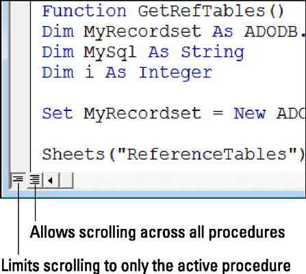 Limit scrolling to the active procedure.