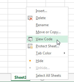 Getting to the built-in module for a worksheet.
