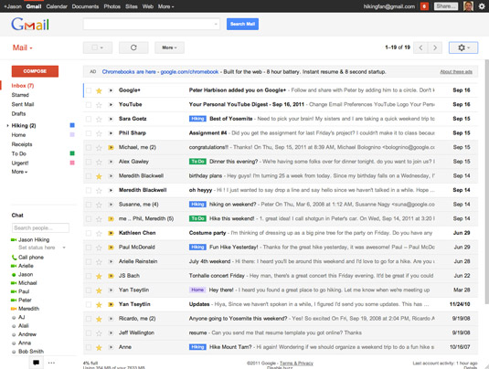 Gmail uses AJAX, which lets users read new emails without reloading the web page.