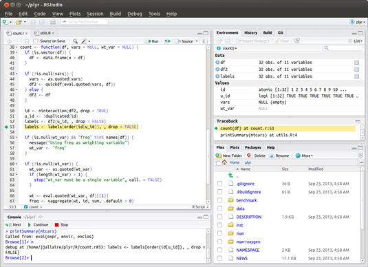 RStudio is a code editor to make programming in R easier.