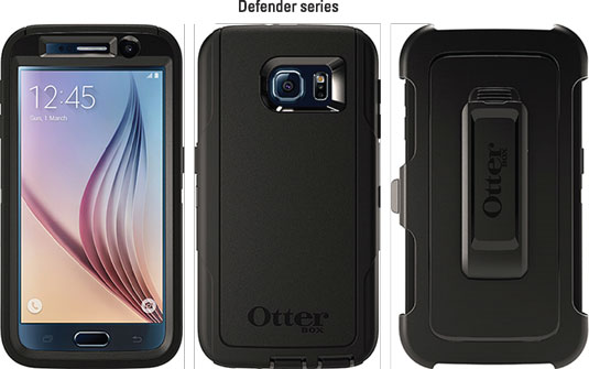 Otterbox cases for the Samsung Galaxy S6.