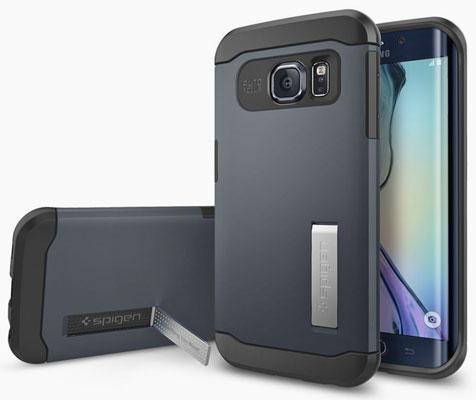 Spigen case for the Samsung Galaxy S6 Edge.