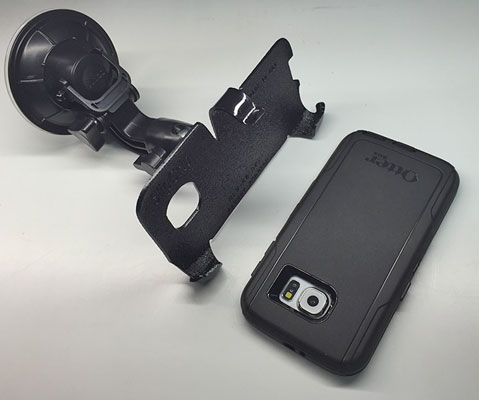 A SlipGrip vehicle mount.
