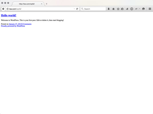 A WordPress blog missing the call to the header. It's naked!