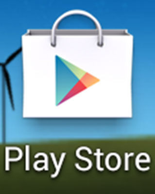 The Play Store icon on a Samsung Galaxy S6.