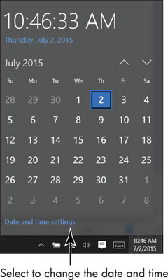 How to Change the Date or Time on the Windows 10 Desktop
