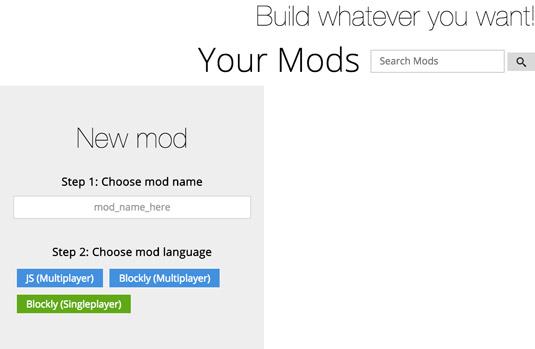 how to make a minecraft mod