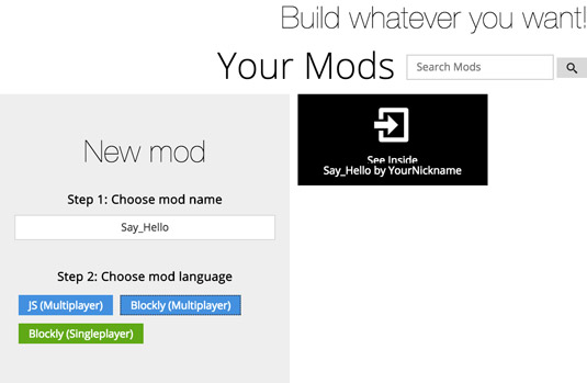 making a server-side mod in minecraft
