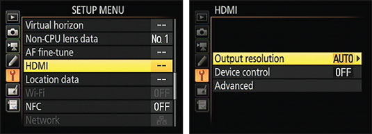 Select options for HD playback here.