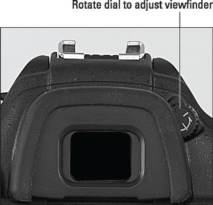 Rotate this dial to set the viewfinder focus for your eyesight.