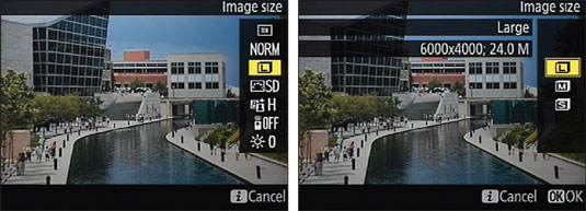 """When Live View is enabled, the <b/></noscript><i>i </i>button menu offers these settings during still photo"""" width=""""535″/> <div class="""